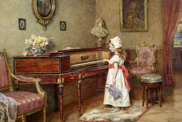 George_Goodwin_Kilburne_Piano_practice small